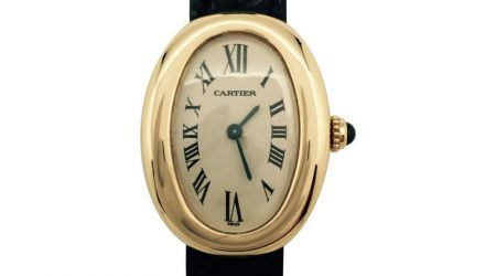 Montre quartz Cartier en or