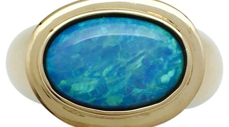 bague en opale d'occasion