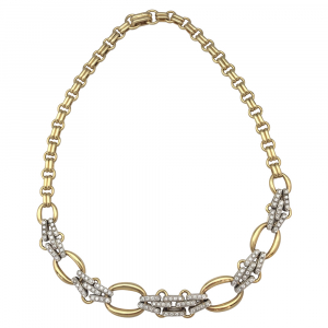 Collier Pomellato en or jaune et en or blanc, diamants.