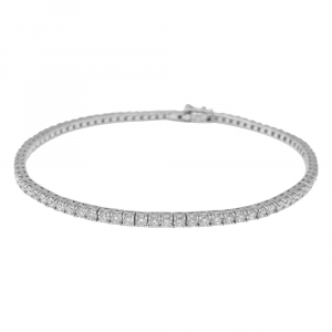 "Bracelet ""Tennis"" en or blanc, 2,36 ct diamants."
