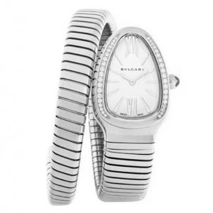 "Montre Bulgari ""Serpenti"" en acier, diamants."