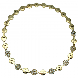 "Collier Cartier modèle ""Himalaya"" en or jaune, diamants."