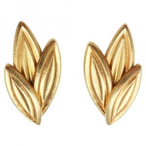 Yellow gold Lalaounis earrings.