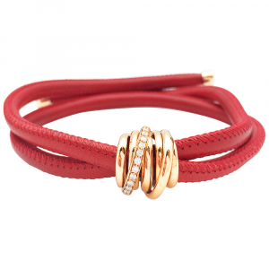 "Bracelet de Grisogono collection ""Allegra"" sur un cordon en cuir."
