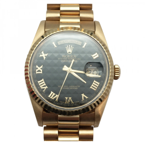 "Montre Rolex ""Oyster Perpetual Day-date"" en or jaune."