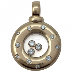 "Pendentif Chopard ""Happy diamonds"" en or jaune."