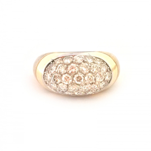 Bague en or jaune et blanc Van Cleef & Arpels, diamants.