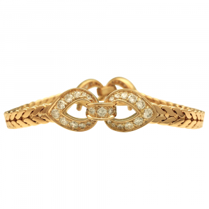Bracelet Cartier en or jaune et diamants.