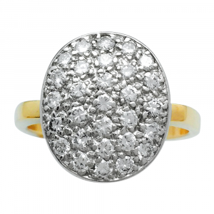 Bague Dinh Van en or blanc et jaune, diamants.