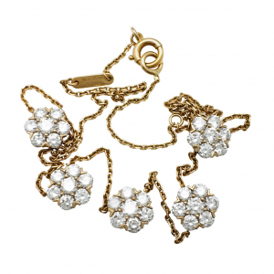 "Collier Van Cleef & Arpels, ""Fleurette"" en or jaune et diamants."