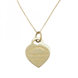 "Collier Tiffany & Co, collection ""Return to"" en or jaune."