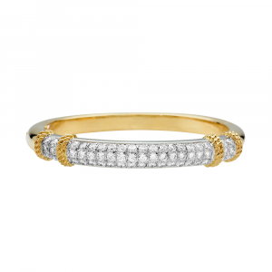 "Bracelet Fred ""Isaure"", 2 tons d'or et platine, diamants."