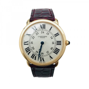 "Montre Cartier ""Ronde"" en or rose."