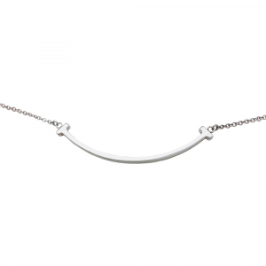 "Collier Tiffany & Co., ""Tiffany T Smile"", argent."