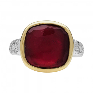 "Bague Pomellato, ""Sherazade"", en or jaune et blanc, tourmaline et diamants."