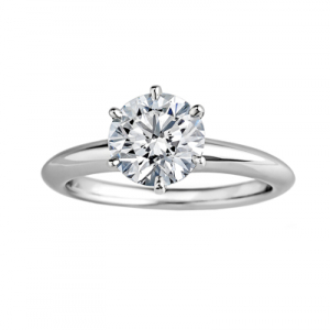 Bague Tiffny & Co en platine et diamant 0,64 ct.