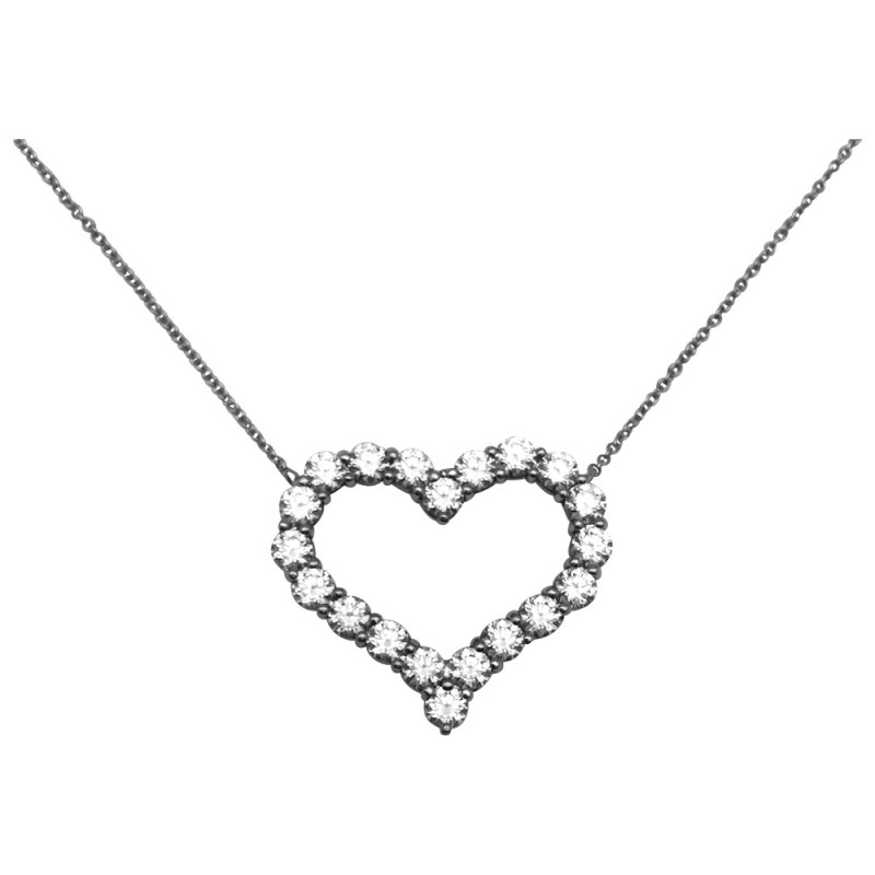 "Pendentif Tiffany and Co ""Tiffany hearts"" en platine et diamants."