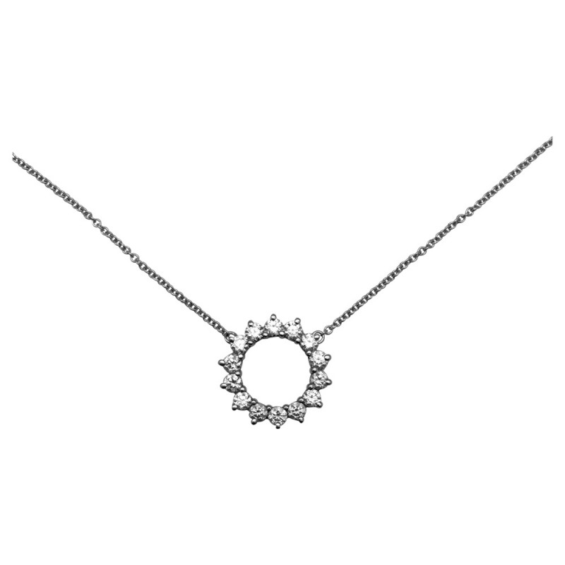 "Collier Tiffany and Co ""Open Circle"" en platine et diamants."